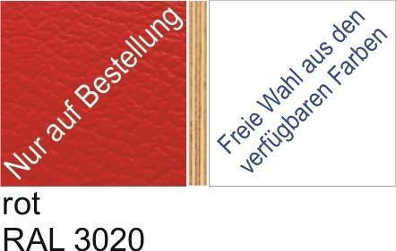 Großplatte 245 x 125 cm Farbe rot - (andere Seite nach Wahl)