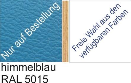 Großplatte 245 x 125 cm Farbe himmelblau- (andere Seite nach Wahl)