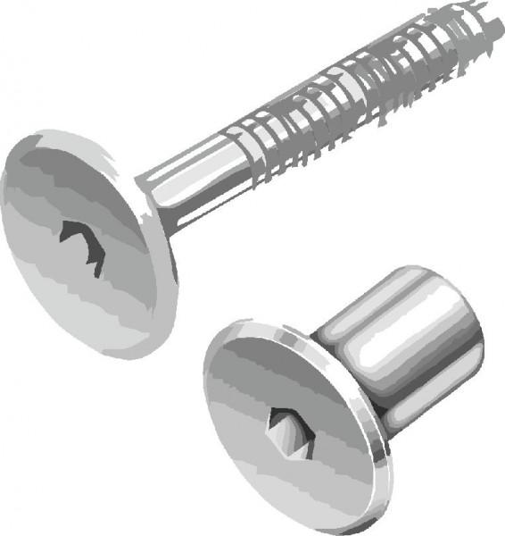 4 Schrankverbinder Stahl verzinkt