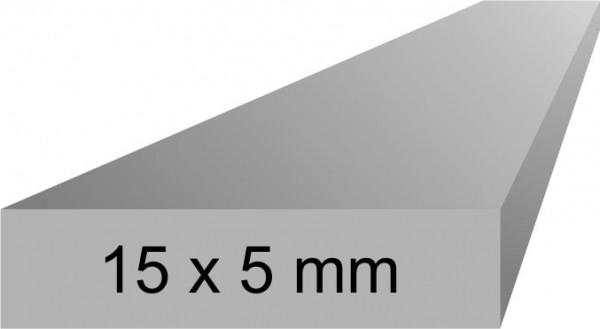 Alu Flachprofil 5x15 mm, 1 Meter