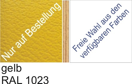Großplatte 245 x 125 cm Farbe gelb - (andere Seite nach Wahl)