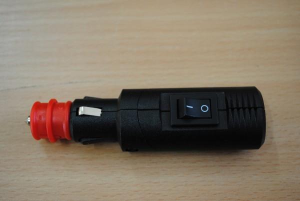 Winkelbarer 12V Universalstecker mit Schalter