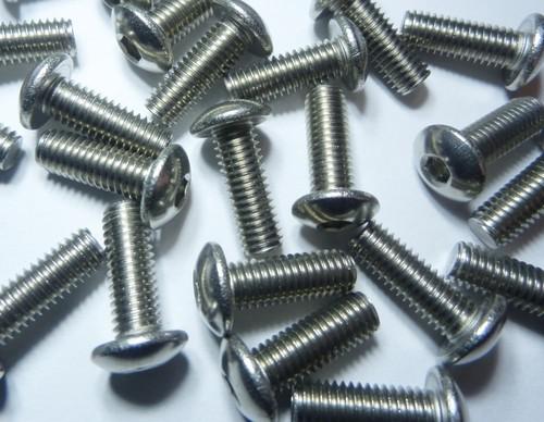 100 Linsenkopfschrauben mit Innensechskant M5x14 Edelstahl