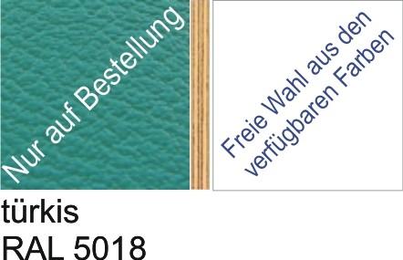 Großplatte 245 x 125 cm Farbe türkis - (andere Seite nach Wahl)