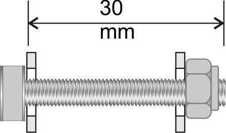 8 Schrankverbinder komplett 30 x 6 mm Edelstahl