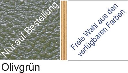 Großplatte 245 x 125 cm Farbe olivgrün - (andere Seite nach Wahl)