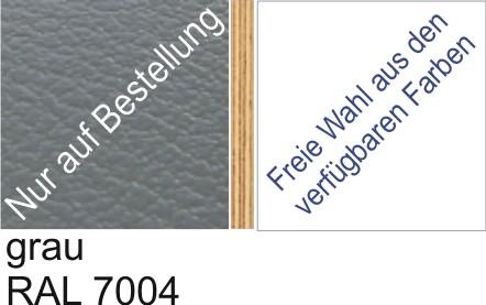 Großplatte 245 x 125 cm Farbe grau - (andere Seite nach Wahl)