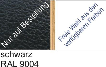 Großplatte 245 x 125 cm Farbe schwarz - (andere Seite nach Wahl)