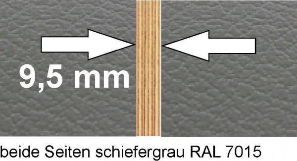 Ausbauplatte ca. 125 x 80 cm schiefergrau / schiefergrau Sonderstärke 9,5 mm