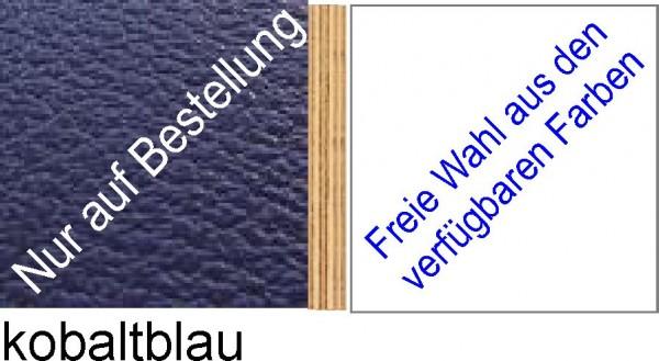 Großplatte 245 x 125 cm Farbe kobaltblau - (andere Seite nach Wahl)
