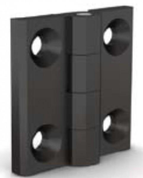 Polyamid Scharnier 40 x 40 mm, schwarz