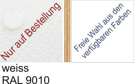 Großplatte 245 x 125 cm Farbe weiss - (andere Seite nach Wahl)