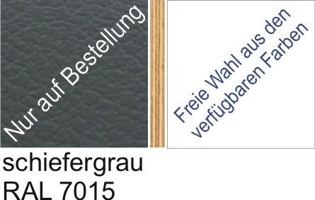 Großplatte 245 x 125 cm Farbe schiefergrau - (andere Seite nach Wahl)