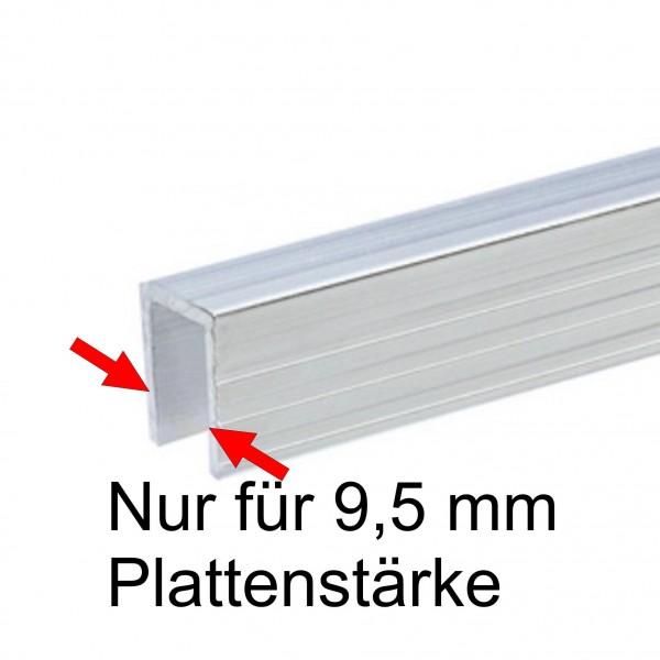 6240 Endprofil / Umrandung, 9,5 mm, 2 Meter