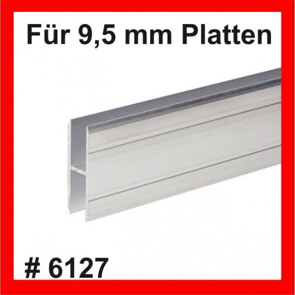 #6127Adam Hall Verbindungsprofil H-Form, 9,5 bis 10mm