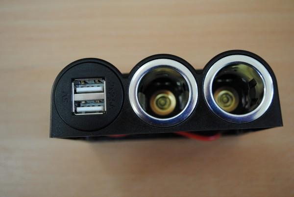 Dreifachsteckdose mit 1 Power USB Doppelsteckdose und 2 Power 12V Steckdosen