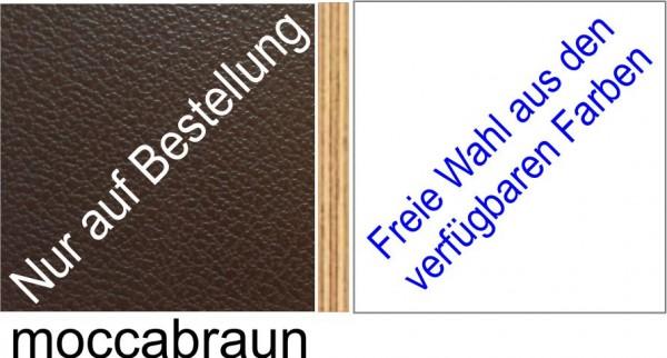 Großplatte 245 x 125 cm Farbe mocca - (andere Seite nach Wahl)