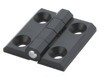 Zinkguß Scharnier, schwarz, 40x40